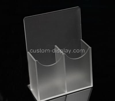 Double pockets acrylic brochure holder