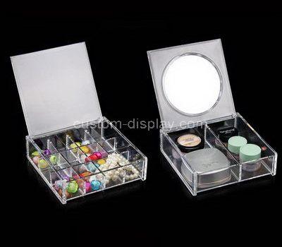 Acrylic cosmetic organizer with mirror