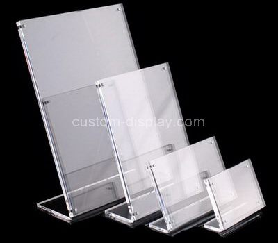 Acrylic sign holder with magnet