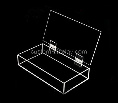 Acrylic box with hinged lid