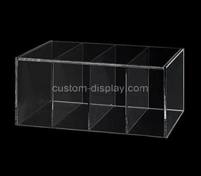 Clear acrylic box with compartments
