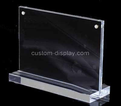 T style acrylic sign holder