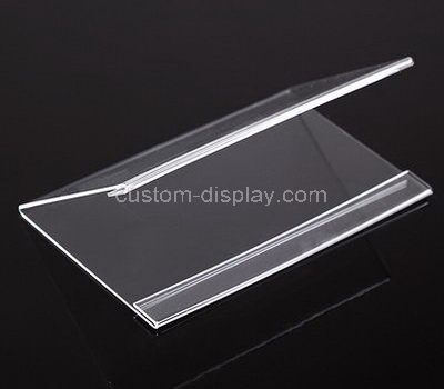 V shape acrylic price tag holder