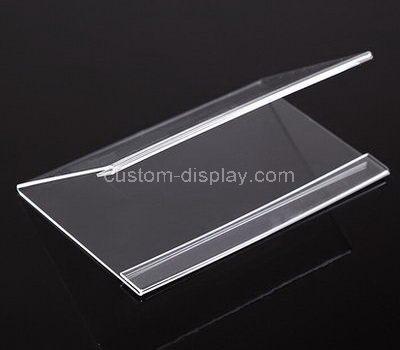 V shape acrylic price tag holder