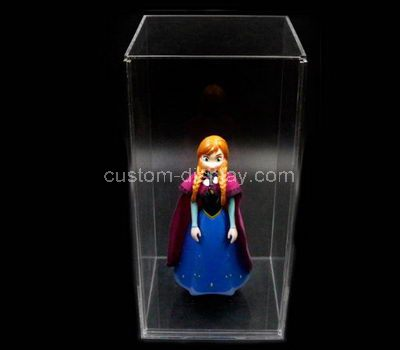 Plastic doll display case