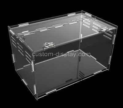 Clear plastic display cases