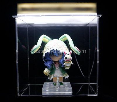 Large clear plastic display cases