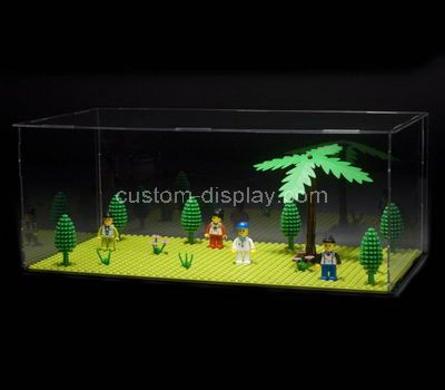 Clear acrylic display cabinets