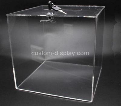 Clear acrylic ballot box
