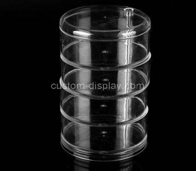 Round acrylic display case