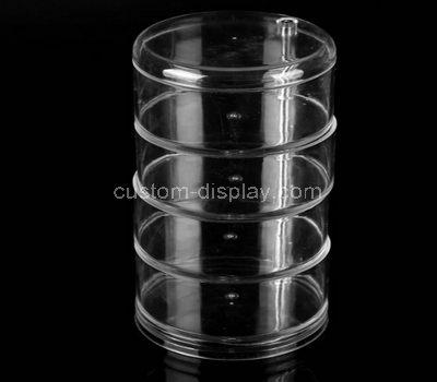 Round acrylic display case