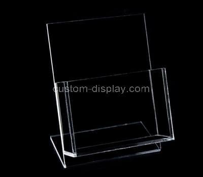 Plastic brochure holder