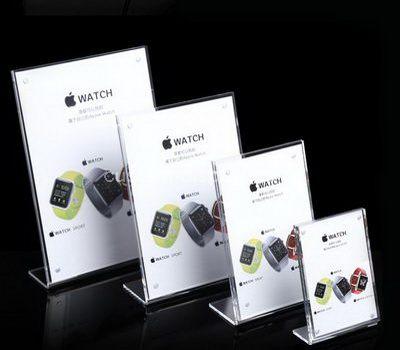 Plastic menu holders