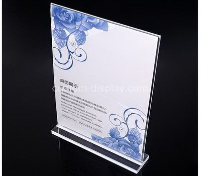 Plexiglass sign holder