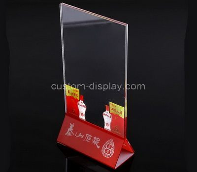 Lucite sign holder