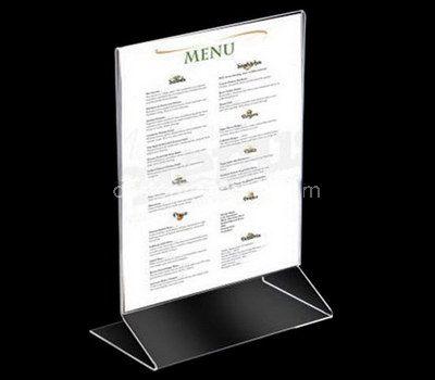 Acrylic menu stand