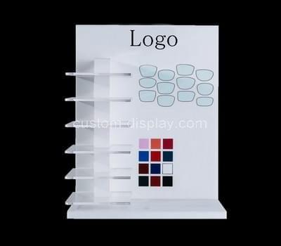 Acrylic cosmetic display shelves