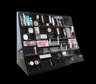 black acrylic cosmetic display