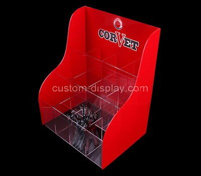 red acrylic display case