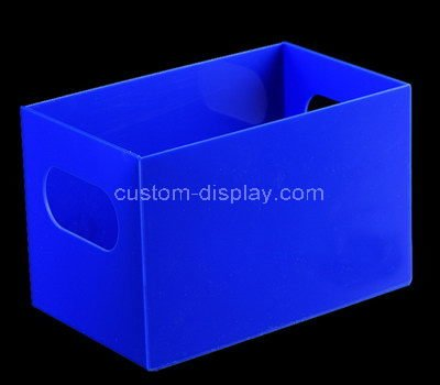 blue storage bins