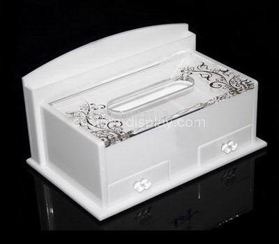 white tissue box cover