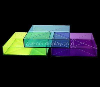 square acrylic tray