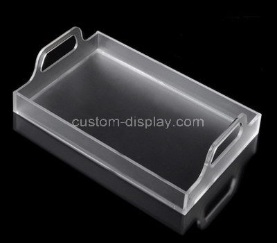 clear serving tray