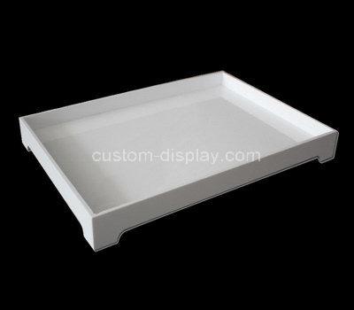 white lucite tray