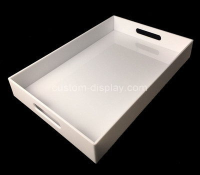 CST-067-1 acrylic serving tray with handles