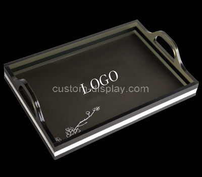 large acrylic serving tray with handles