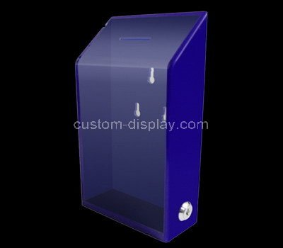 purple donation box