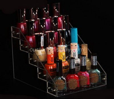 lucite clear nail polish holder