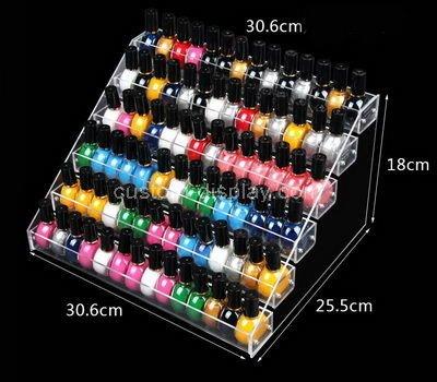 transparent plastic nail polish holder