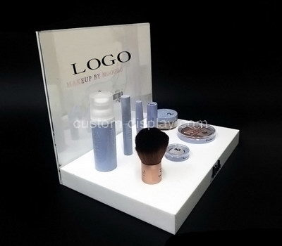 white lucite display stands