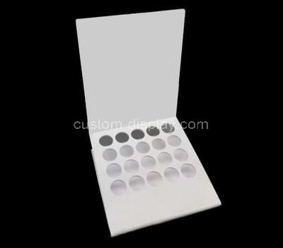 white acrylic cosmetic display stand