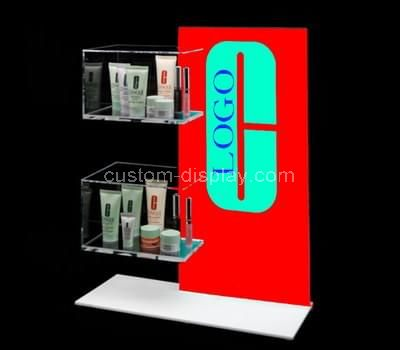 plexiglass retail makeup display stand