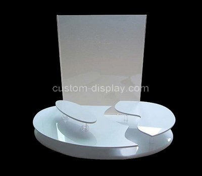 white acrylic cosmetic retail display