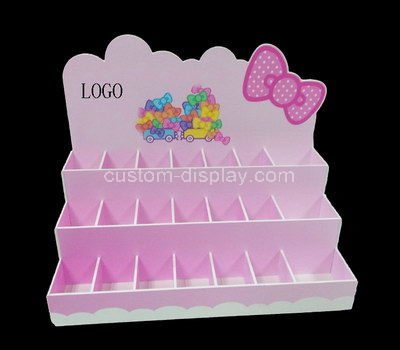 pink acrylic cosmetic retail display