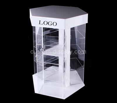acrylic lockable display cabinet