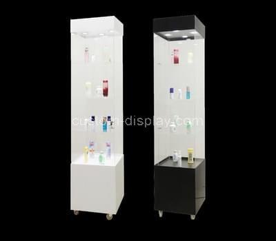 acrylic small corner display cabinet