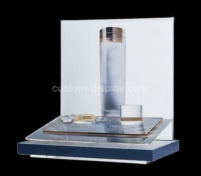 plexiglass cosmetic product display stands