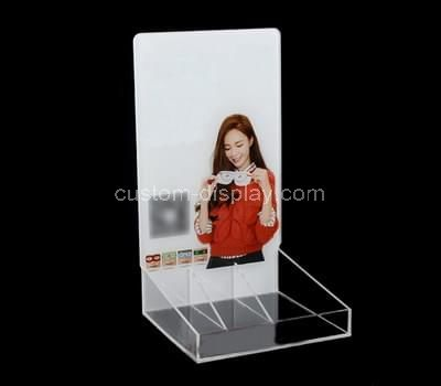 clear makeup stand