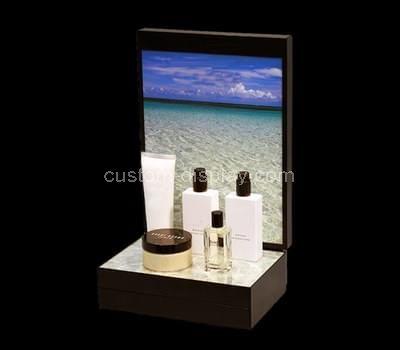 plexiglass makeup stand