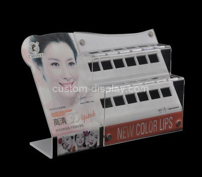 lucite countertop cosmetic display