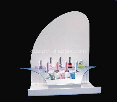 white cosmetic display stand