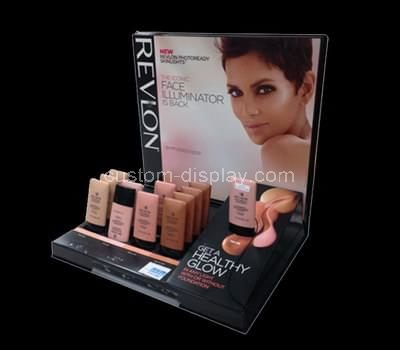 retail plexiglass makeup display