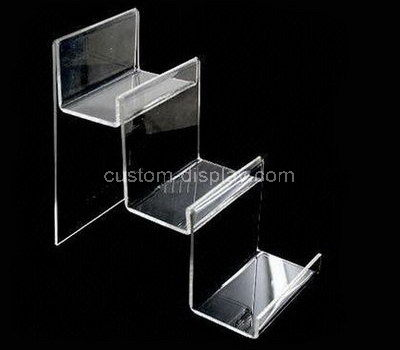 retail clear 3 tier display stand