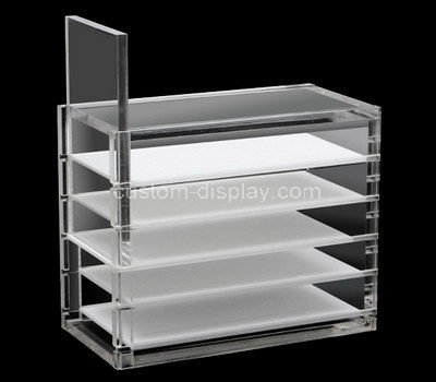 lucite makeup display shelves