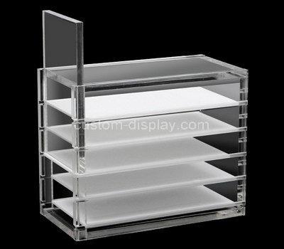 lucite makeup display shelves