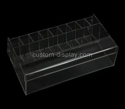 plexiglass makeup display shelves